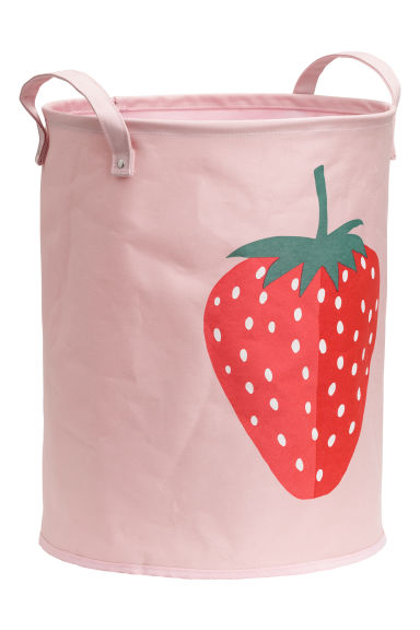 Cotton storage basket - Light pink/Strawberry -  | H&M CN