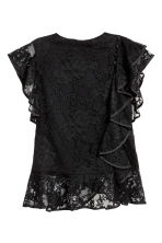 Lace top with frills - Black - Ladies | H&M CN 2