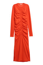 Draped dress - Orange - Ladies | H&M IE 2