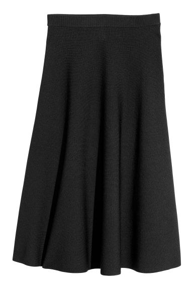 Calf-length skirt - Black - Ladies | H&M