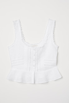 Top med broderie anglaise