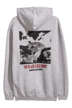 Hooded top with a print motif - Grey marl/No place - Men | H&M CN 2