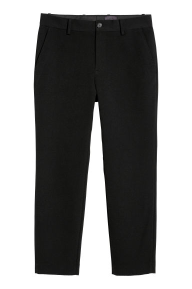 Textured-weave trousers - Black - Men | H&M