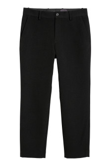 Textured-weave trousers