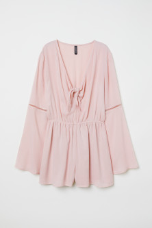 Playsuit with knot detail