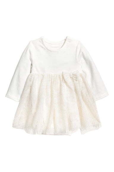 Tulle dress with a bodysuit - White - Kids | H&M CN 1
