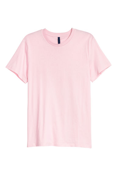 T-shirt à encolure ronde - Rose clair -  | H&M CH