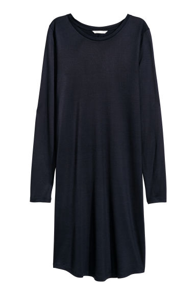 Jersey dress - Dark blue - Ladies | H&M CN