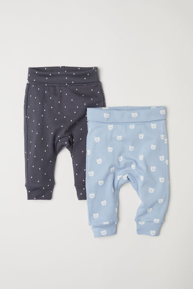 2-pack jersey trousers - Light blue/Cats - Kids | H&M CN