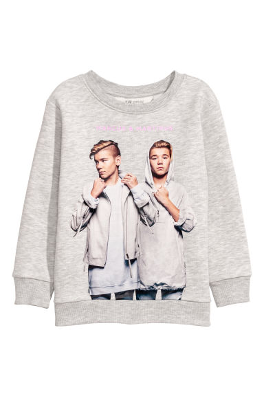 Sweat avec impression - Gris clair/Marcus & Martinus -  | H&M CH