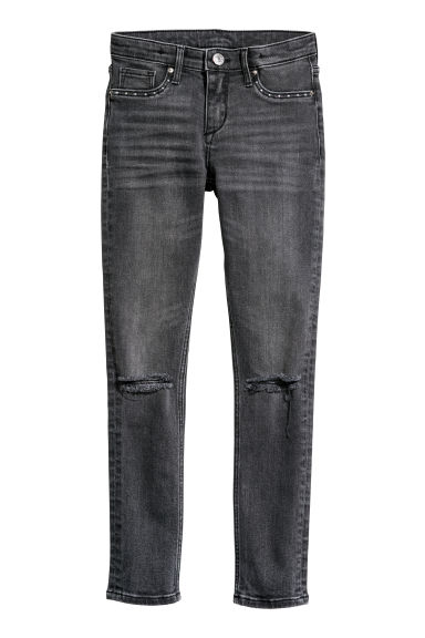 Superstretch Skinny Fit Jeans - Zwart denim -  | H&M BE