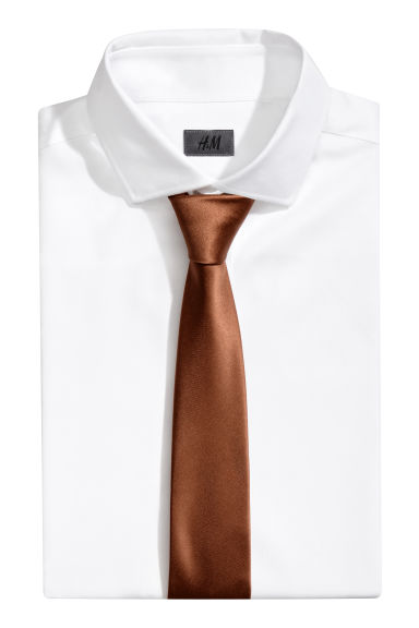 Satin tie - Brown - Men | H&M