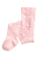 2-pack tights - Light grey/Hearts - Kids | H&M CN 2