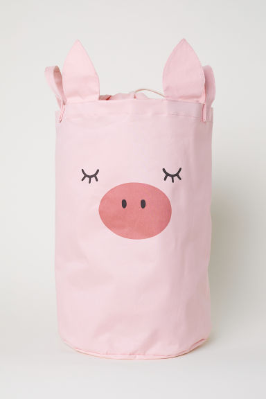 Printed storage basket - Light pink/Pig - Home All | H&M CN