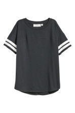 Short-sleeved top - Dark grey - Ladies | H&M IE 1