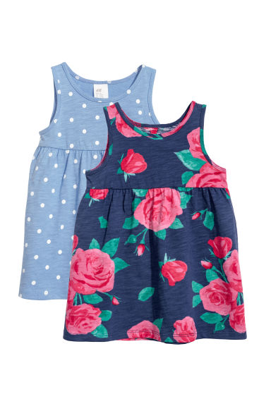 2-pack jersey dresses - Dark blue - Kids | H&M CN