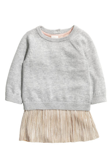 Jumper and dress - Light grey marl -  | H&M