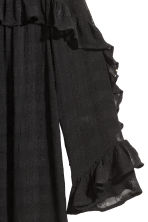 Textured dress - Black - Ladies | H&M CN 3