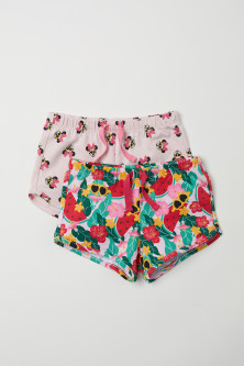 Set van 2 katoenen shorts