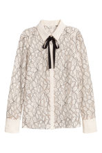 Long-sleeved blouse - Natural white - Ladies | H&M 2