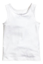 2-pack vest tops - White/Butterflies - Kids | H&M 3
