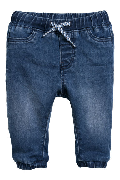 Pantaloni pull-on in denim - Blu denim scuro - BAMBINO | H&M IT