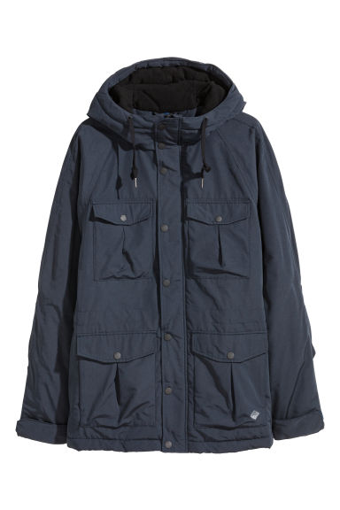 Padded parka - Dark blue - Men | H&M GB