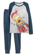 Jersey pyjamas - Dark blue/The Simpsons -  | H&M CN 1