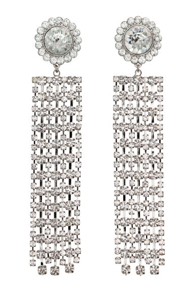 Sparkly earrings - Silver-coloured - Ladies | H&M GB