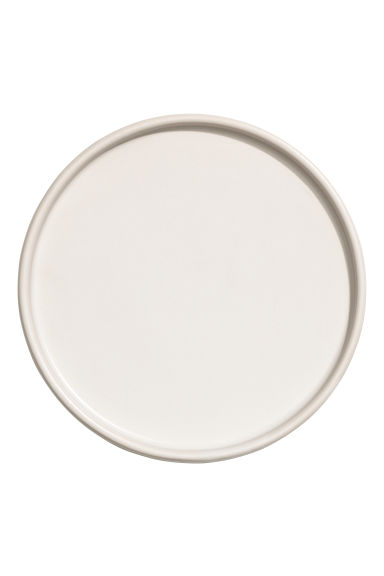 Stoneware plate - White - Home All | H&M GB