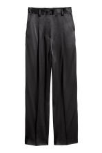 Pantaloni ampi in satin - Nero - DONNA | H&M IT 2