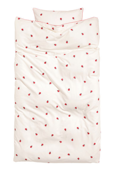 Patterned duvet cover set - White/Ladybirds - Home All | H&M IE