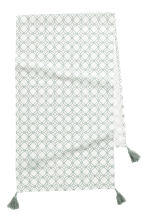 Patterned table runner - Natural white/Patterned - Home All | H&M GB 1