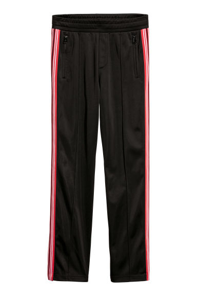 Trousers with side stripes - Black - Men | H&M CN