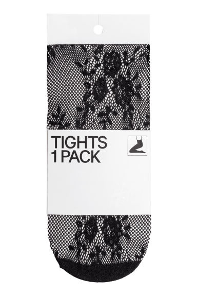 Lace tights - Black - Ladies | H&M