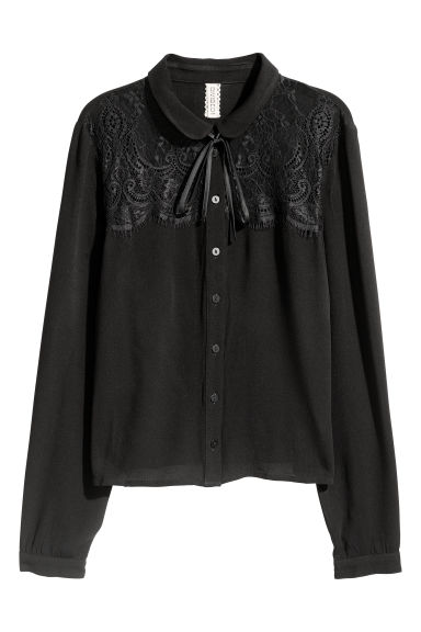 Short blouse - Black - Ladies | H&M