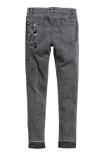 Twill trousers Skinny Fit - Grey washed out - Kids | H&M CN 3