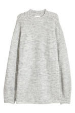 Ribbed jumper - Light grey marl - Ladies | H&M IE 2