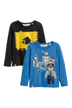 T-shirts en jersey, lot de 2 - Bleu/Lego - ENFANT | H&M BE 2