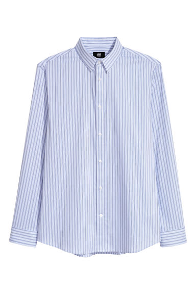 Stretch shirt Slim fit - Light purple/Striped - Men | H&M