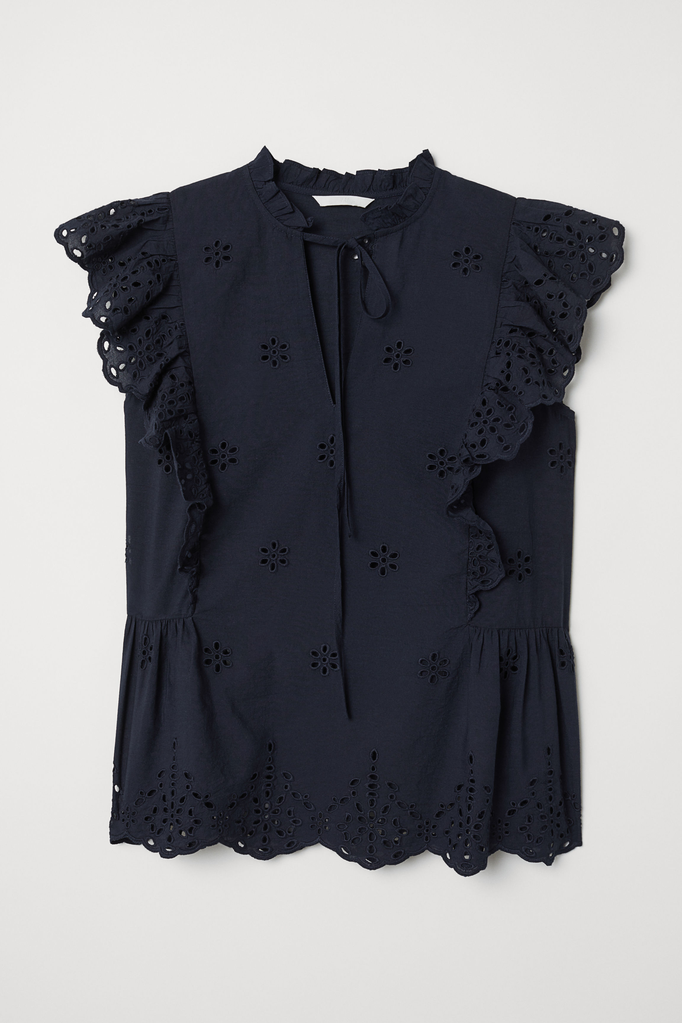 60672f67b5 White Ruffle Shirt Hm