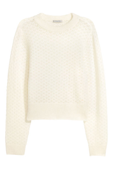 Mohair-blend jumper - Natural white - Ladies | H&M