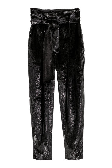 Wet-look trousers - Black - Ladies | H&M CN