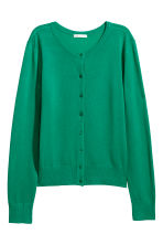 Fine-knit cardigan - Green - Ladies | H&M IE 2