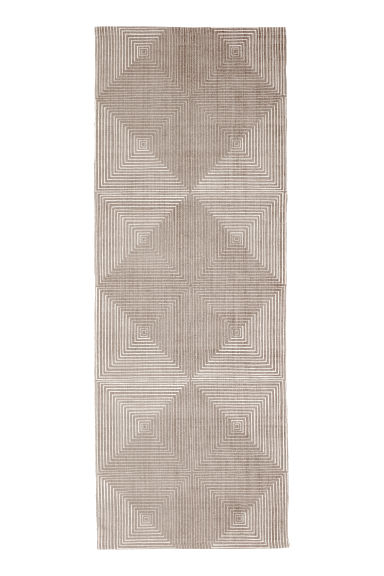 Patterned cotton rug - Mole/White patterned - Home All | H&M IE