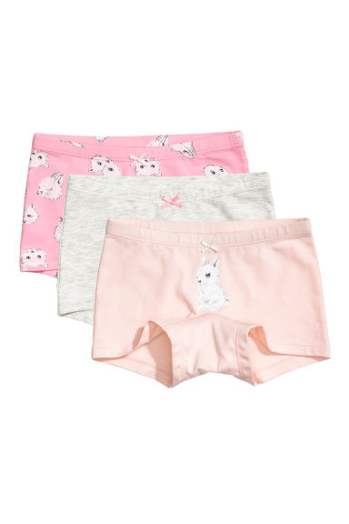 3-pack boxer briefs - Pink/Animals - Kids | H&M