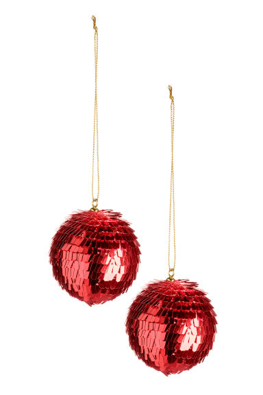 Palline natalizie, 2 pz - Rosso scuro - HOME | H&M IT