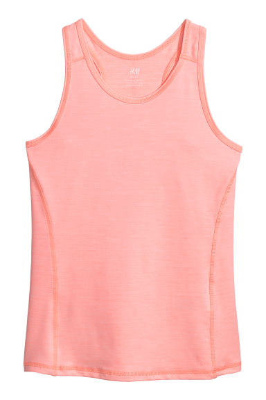 Sports vest top - Coral pink - Kids | H&M CN
