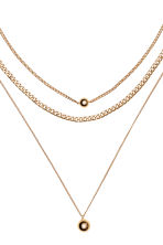 3-pack necklaces - Gold-coloured - Ladies | H&M GB 3