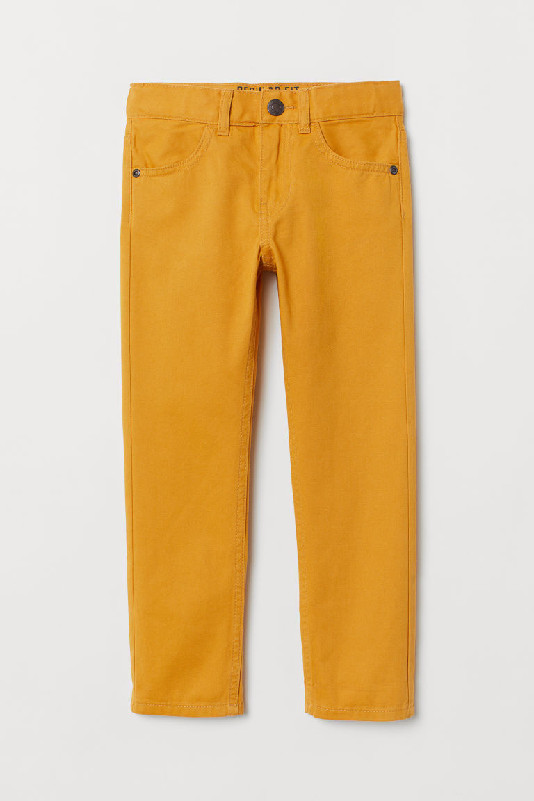 Twill trousers Regular Fit - Yellow - Kids | H&M GB